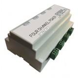 گیرنده رله 4 کانال ریموتی 12 ولت پاور قابل ارتقاء GSN