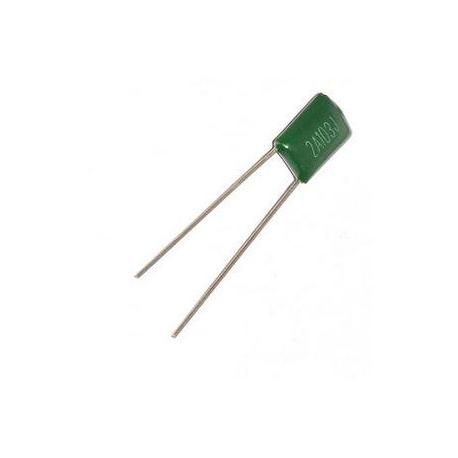 خازن پلی استر 10 نانوفاراد 100 ولت - بسته 5 تایی