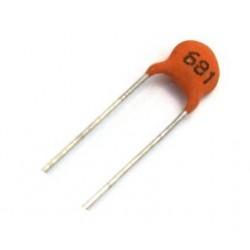 خازن عدسی 680 پیکو فاراد - بسته 10 تایی