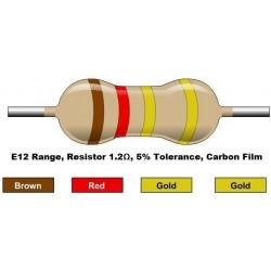 مقاومت 1.2 اهم 1/4 وات 5 درصد (بسته 10 تایی)
