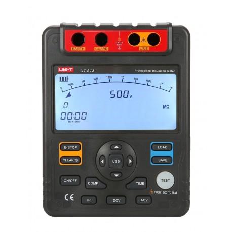 تستر مقاومت عایقی (میگر) 5000 ولت مدل UNI-T UT513