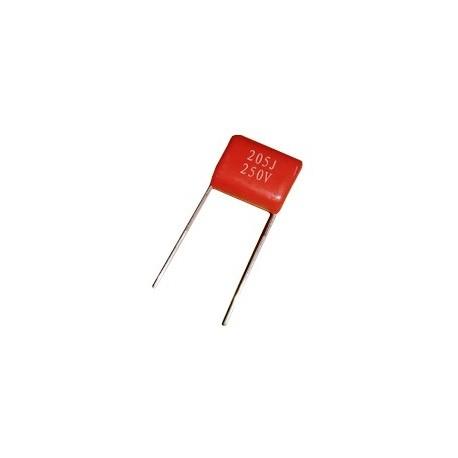 خازن پلی استر 2 میکروفاراد 250 ولت - بسته 5 تایی