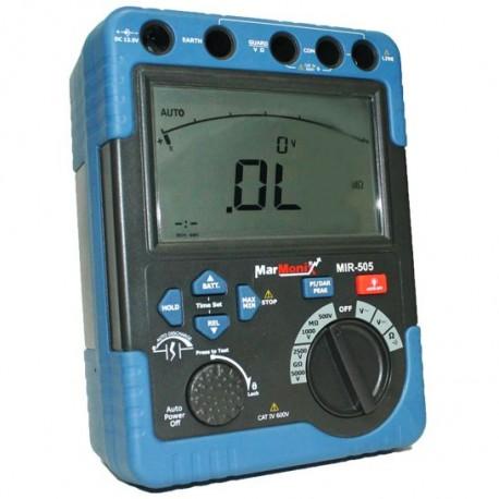 تستر مقاومت عایقی (میگر) 5000 ولت مدل MARMONIX MIR-505