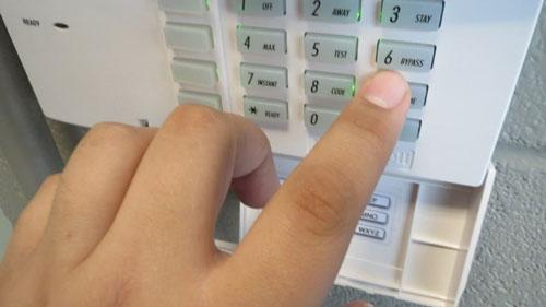 وارد کردن کد امنیتی دزدگیر