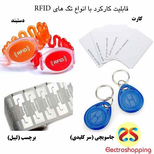 ماژول دربازکن کارتی قابلیت کارکرد با انواع تگ های RFID را دارد